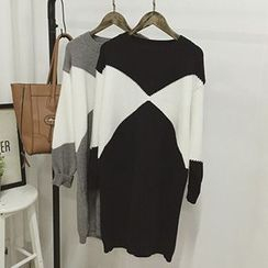 Polaris - Two-Tone Sweater Dress