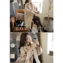 MyFiona - Notched-Lapel Double-Breasted Coat