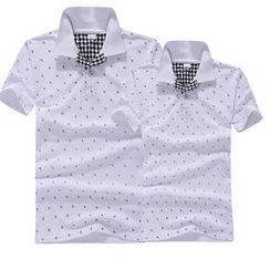 Free Shop - Short-Sleeve Anchor-Print Polo Shirt