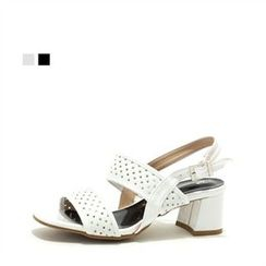 MODELSIS - Perforated Buckled Sandals