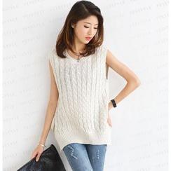 SO Central - Open-Back Sleeveless Knit Vest