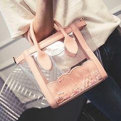 Youme - Embellished Transparent Crossbody Bag