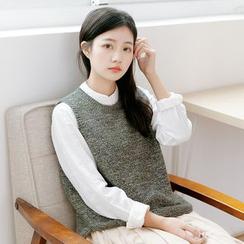 Forest Girl - Melange Knit Vest