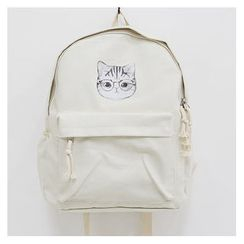 Sechuna - Pocket-Front Printed Backpack
