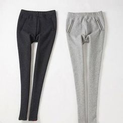 Ando Store - Pocket-Detail Fleece-Lined Leggings