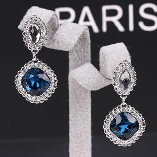 Supermary - Rhinestone Jeweled Drop Earrings