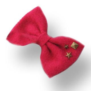 Fit-to-Kill - Stars on big bow hairpin -fuchsia