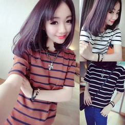 YOSH - Stripe Short-Sleeve T-shirt