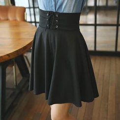 Envy Look - Lace-Up A-Line Skirt