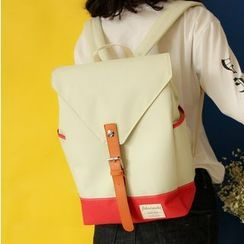Bolso - Color Block Canvas Backpack