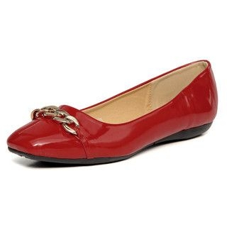 yeswalker - Chain-Accent Patent Flats