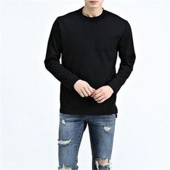 THE COVER - Round-Neck Long-Sleeve T-Shirt