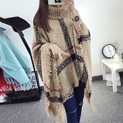 FR - Turtleneck Knit Cape