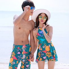 Sirene - Printed Swim Dress / Beach Shorts