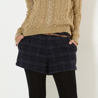 YesStyle Z - Plaid Shorts with Belt