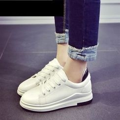 Laceuplux - Platform Lace Up Sneakers