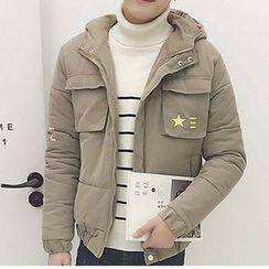 Harvin - Printed Hooded Padded Jacket