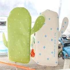 Homey House - Faux Leather Cactus Pencil Case