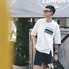 Mr. Cai - Short-Sleeve Pocket-Accent T-Shirt