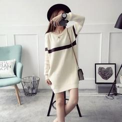 Poppy Love - Striped Long Sweater