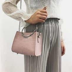 Lizzy - Faux-Leather Mini Shoulder Bag with Pouch