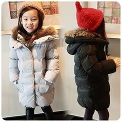 Rakkaus - Furry-Trim Puffer Hooded Coat