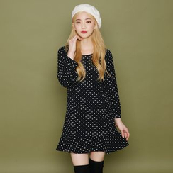 Envy Look - Polka-Dot A-Line Mini Dress