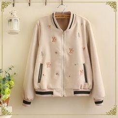 TOJI - Embroidered Baseball Jacket