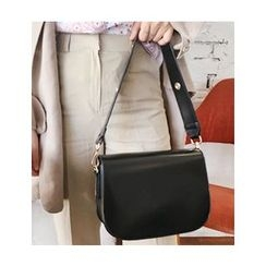 FROMBEGINNING - Flap Synthetic Leather Crossbody Bag