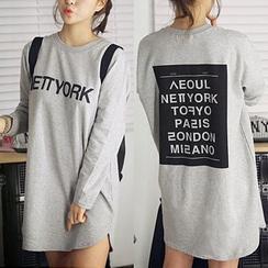 HOTPING - Printed T-Shirt Dress