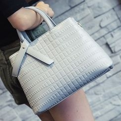 Nautilus Bags - Textured Tote Bag with Shoulder Strap
