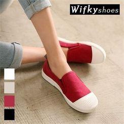 Wifky - Toe-Cap Canvas Slip-Ons