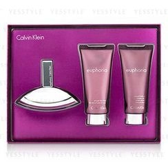 Calvin Klein 卡爾文克來恩 - Euphoria Coffret: Eau De Parfum Spray 50ml/1.7oz + Sensual Skin Lotion 100ml/3.4oz + Sensual Bath and Shower Creme 100ml/3.4oz