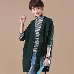Gatz - Cable-Knit Long Cardigan