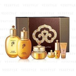 The History of Whoo - Gongjinhyang Yin Yang Premium Set: Balancer 150ml + Lotion 110ml + Cream 30ml + Eye Cream 4ml + Essence 10ml + Sleeping Repair 17ml