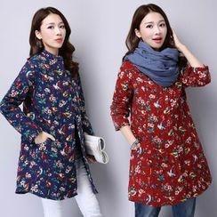 Yeeya - Floral Print Quilted Jacket
