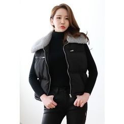 Dalkong - Faux-Shearling Zip Padded Vest