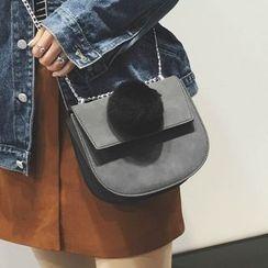 Rosanna Bags - Pompom Chain Strap Shoulder Bag