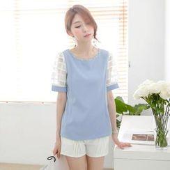 Tokyo Fashion - Mesh Short-Sleeved Top