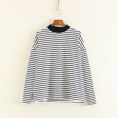 三木社 - 條紋長袖T恤