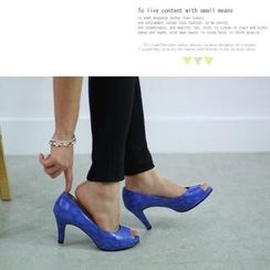 MODELSIS - Open-Toe High-Heel Pumps
