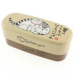Miyamoto Sangyo - Okamoto Hajime Oval 2 Layers Lunch Box Kabamaru & Urume