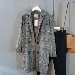 Coolvibe - Plaid Button Coat