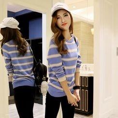 Cherry Dress - Striped Crewneck Sweater