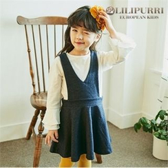 LILIPURRI - Girls V-Neck Jumper Dress