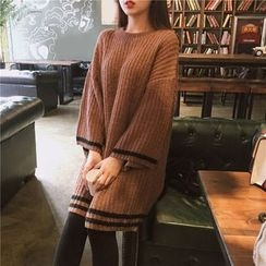 Bloombloom - Long-Sleeve Thick Knit Dress