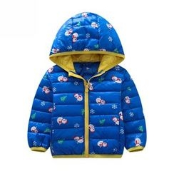 Endymion - Kids Snowman Print Hooded Down Jacket