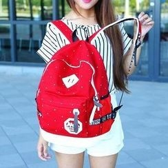 Miss Sweety - Dotted Canvas Backpack