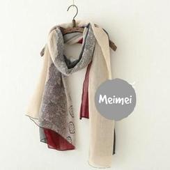 Meimei - 飾蕾絲圍巾