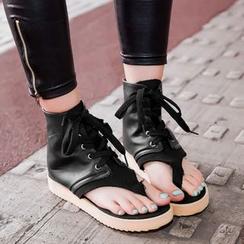 Freesia - 繫帶高幫涼鞋